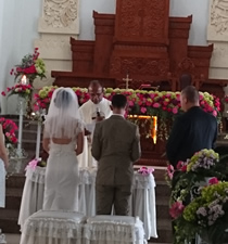 wedding catholic bali